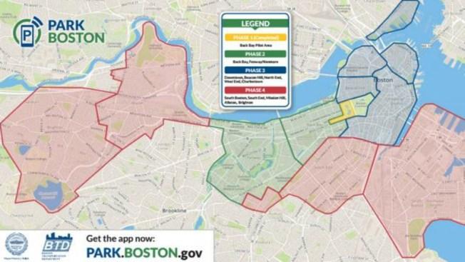 ¿Recargar el parquímetro con un app en Boston?