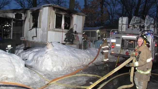 Una víctima fatal tras incendio en casa móvil