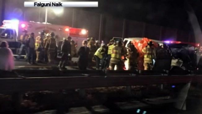 Accidente deja tres muertos y una ola de heridos en NJ