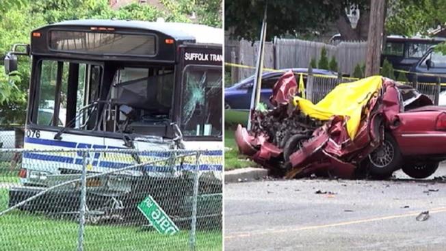 Choque de bus y auto deja un muerto en L.I.