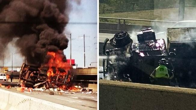 NJ Turnpike cierra tras estallar un camión