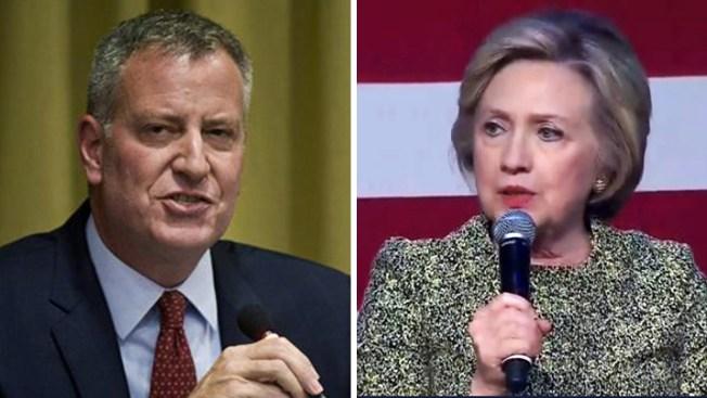Escena cómica entre De Blasio y Clinton desata críticas