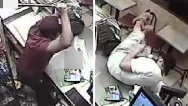 Trabajador ahuyenta a ladrón a tubazos limpios
