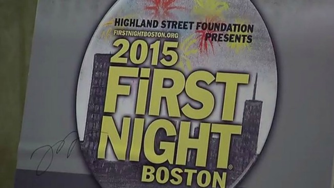 Listos para celebrar en First Night Boston