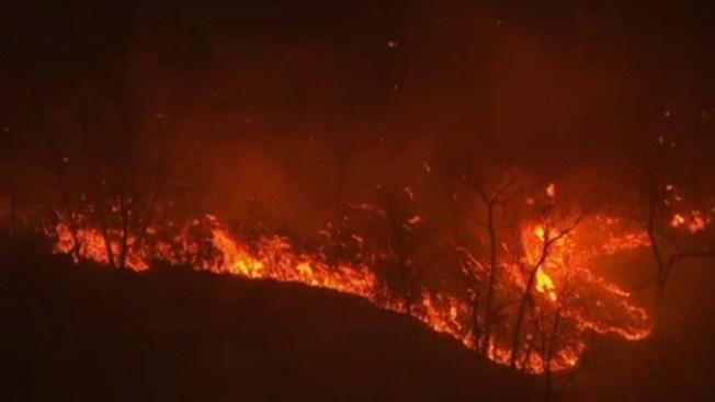 Fuego forestal obliga evacuaciones en NY