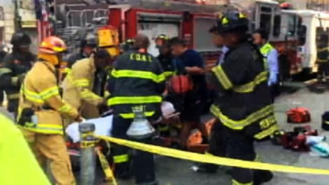 Derrumbe deja varios heridos en Brooklyn