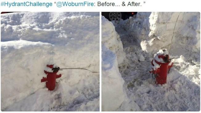 Reto viral de despejar la nieve de los hidrantes