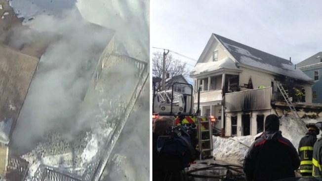 Fuego devora casas en Methuen y Lawrence