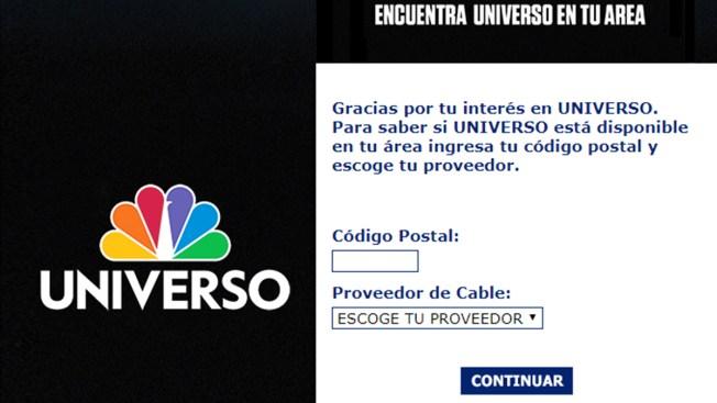 Encuentra el canal de NBC Universo en tu área