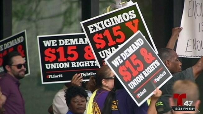 Empleados luchan en Albany por un aumento de salario
