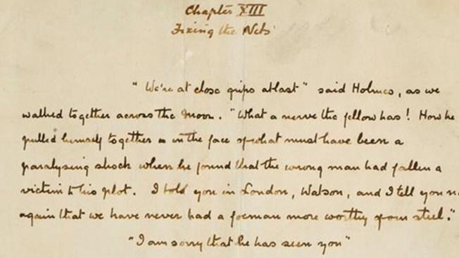 Subastarán en Nueva York manuscritos de Sherlock Holmes