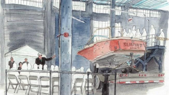 Revisan bote acribillado donde se ocultó Tsarnaev