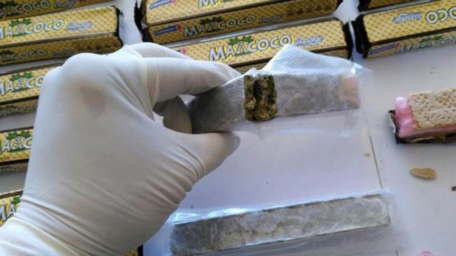 Decomisan galletas rellenas con marihuana y cocaína