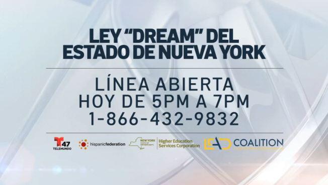 Línea de ayuda: Ley DREAM del estado de Nueva York