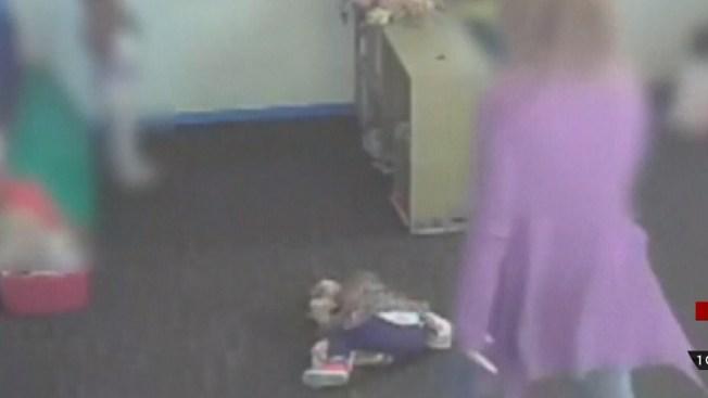 Brutal video de maltrato a niña en guardería