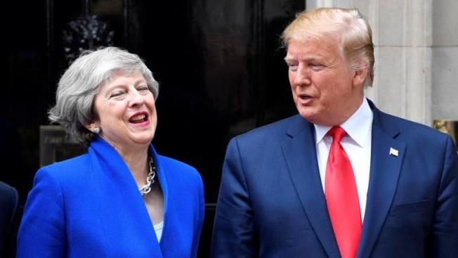Trump y May intercambian elogios; buscan alcanzar tratado comercial