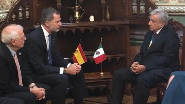 Resultado de imagen de Toma de posesión de López Obrador con el Rey de España