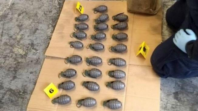 Aseguran cargamento de granadas en la CDMX