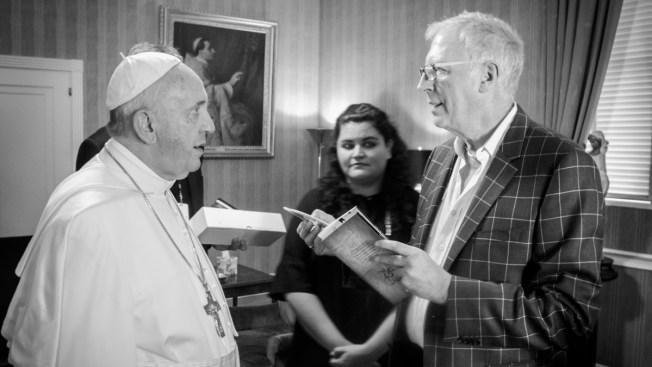 Yayo, el exalumno que se reunió con el Papa