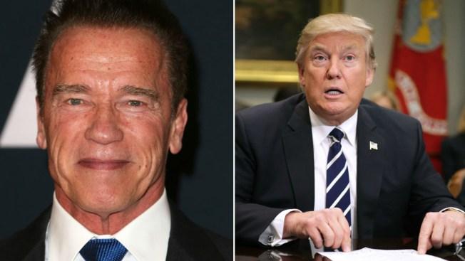Trump aprovecha acto para criticar a Schwarzenegger