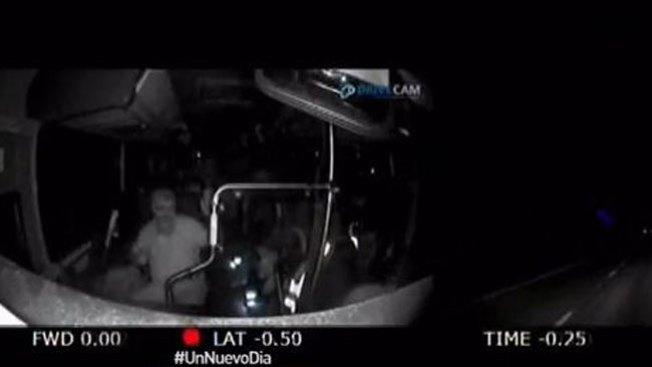 Bus sin control tras ataque al conductor