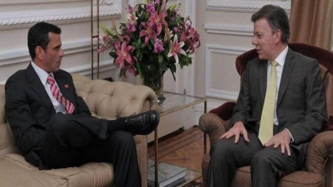 Capriles se reunió con Santos