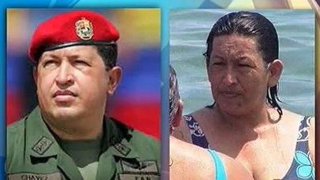 Mujer idéntica a Chávez desata revuelo