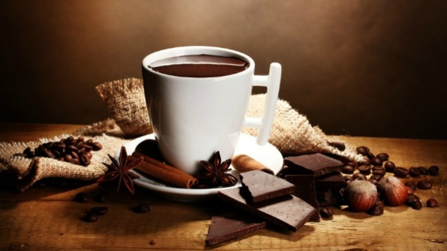 ¡Mmm...! Chocolate, para mantener el calor