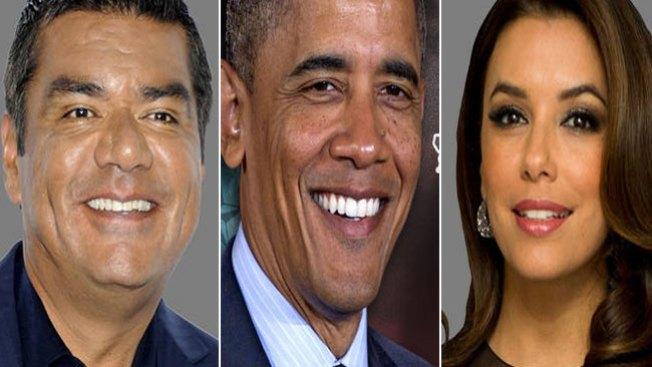 Latinos famosos de nuevo con Obama