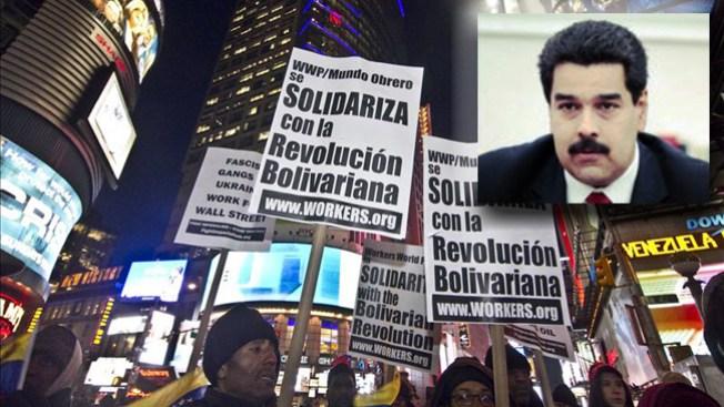 Decenas marchan en apoyo a Maduro