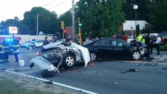 Fatal choque entre varios autos en Braintree