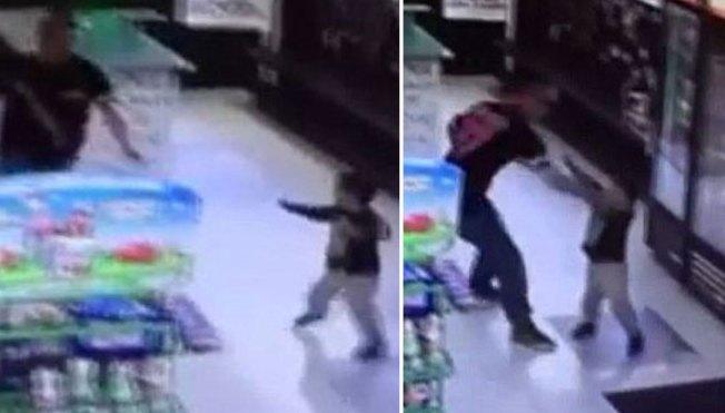 Video muestra a padre golpeando a su hijo