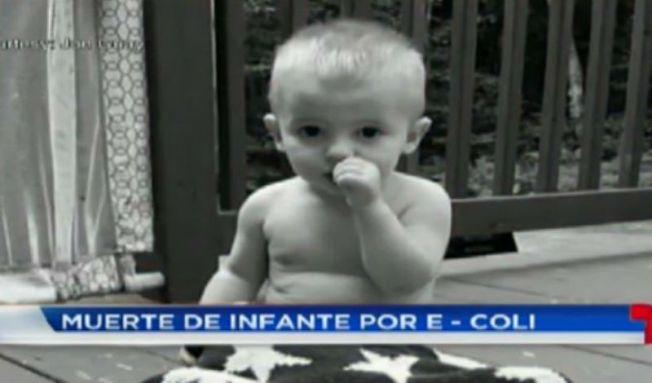 Niño de 20 meses fallece por E. coli