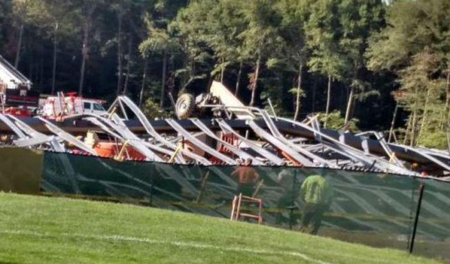 Seis heridos en colapso de edificio en Rhode Island