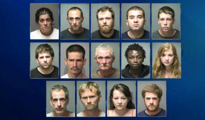Más de 10 arrestados en operativo anti-drogas
