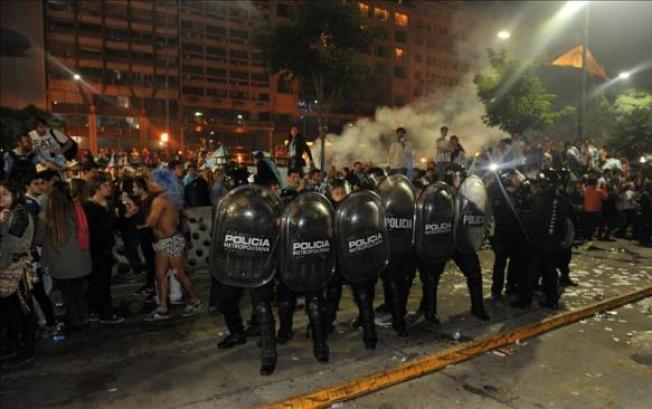 Disturbios en Argentina tras derrota