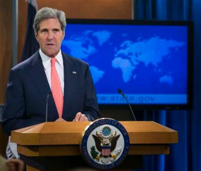 Kerry: Innegable uso de armas químicas