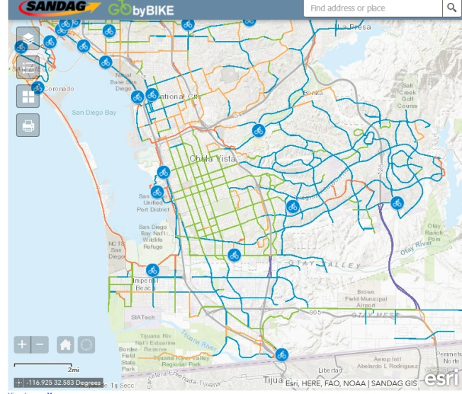 Condado da a conocer nuevo mapa interactivo de rutas de bici