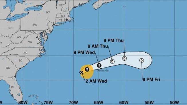 La tormenta tropical Jerry se debilita mientras enfila hacia Bermudas