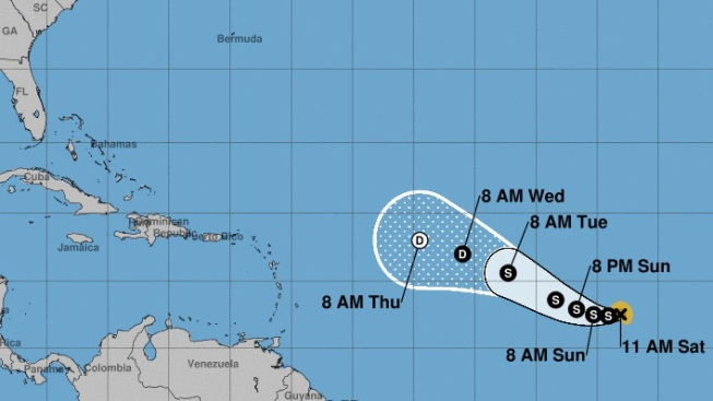 Se forma la tormenta tropical Lee en el Atlántico