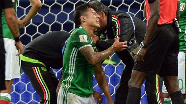 Héctor Moreno, segundo lesionado contra Nueva Zelanda