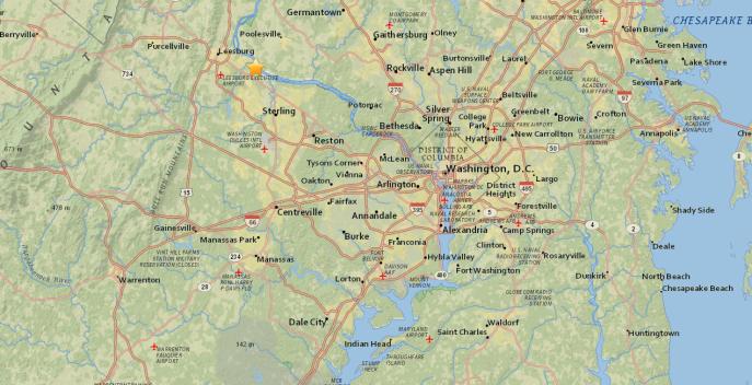 Reportan sismo de 1.7 en Loudoun County