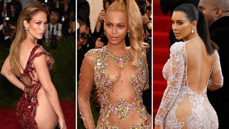 Considerado como el mayor evento de moda del año, la gala benéfica Met Gala 2015 atrajo a más de 500 invitados, entre ellos artistas que se robaron el show por sus atrevidos trajes con transparencias.